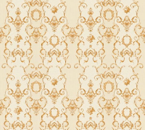 Vliestapete Ranken Barock beige gold glanz Chateau 5
