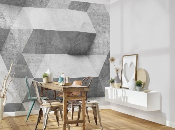 Fototapete Digitaldruck 3d Betonwand 255 x 350 cm