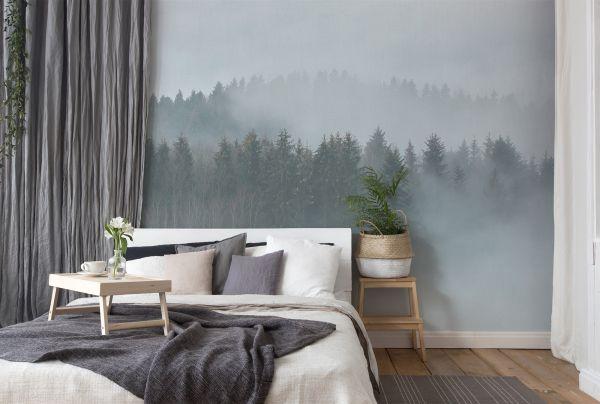 Fototapete Digitaldruck nebliger Wald 255 x 350 cm