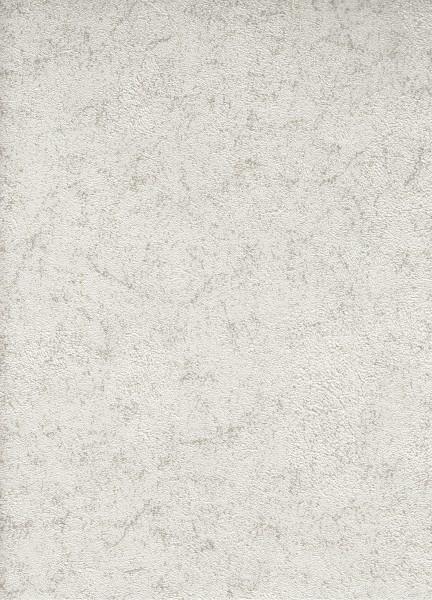 Vliestapete Uni Struktur metallic creme weiß 1503