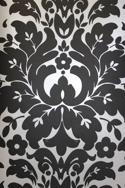 Royal Ornament Tapete schwarz silber metallic