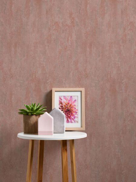 Vliestapete Stein Patina Struktur altrosa rose metallic