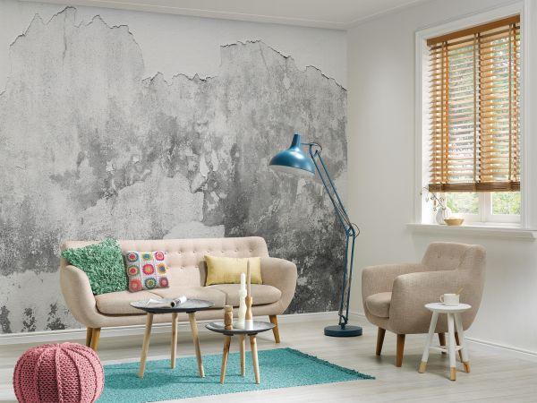 Fototapete Digitaldruck spröde Betonwand verwittert 255 x 350 cm