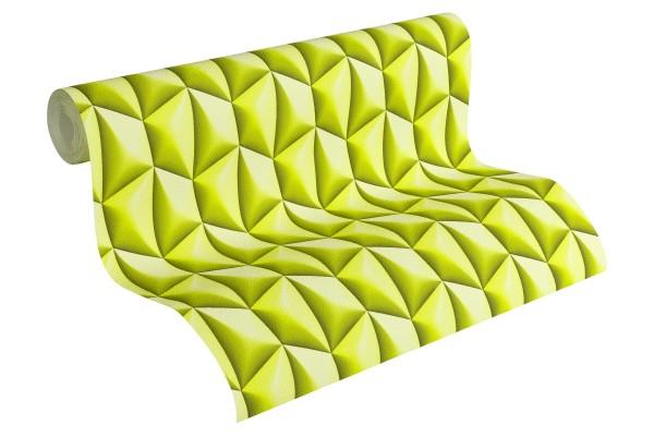 Vliestapete Kacheln Retro 3D grün by Mac Stopa