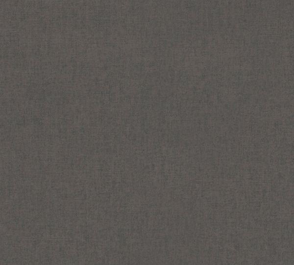 Vlies Tapete Uni Struktur Textil Optik schwarz braun
