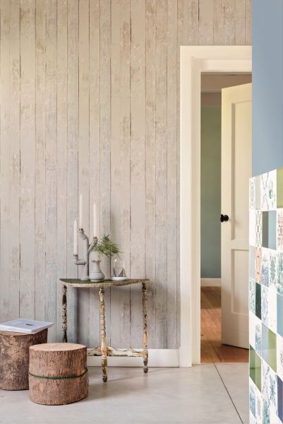 Vliestapete Antik Holz rustikal beige grau