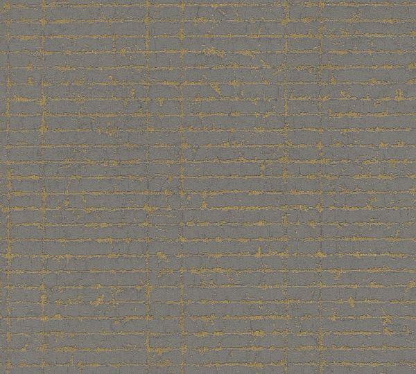 Grafische Strukturtapete Vlies schwarz braun metallic