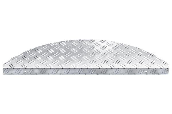 5 Stück Alu Treppenstufe Stufenmatte Treppenmatte Riffelblech 17,5 x 60 cm